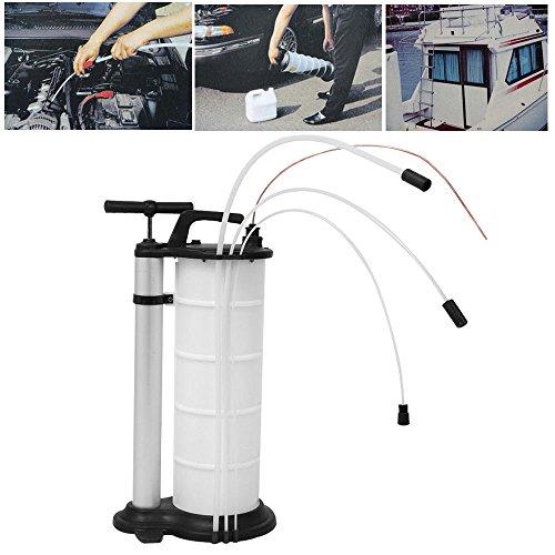 SHIOUCY 9 L Professionelle Ölflüssigkeit-Absaugpumpe, Benzin, Kraftstoff-Transfer, manueller Vakuum-Absauger, Autokraftstoff, Benzin, mit Bedienungsanleitung