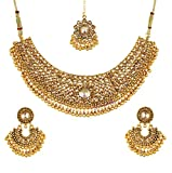 Best Four Piece Necklace - Youbella Gold Plated Necklace Jewellery Set With Earrings Review