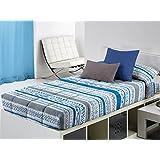 Cañete - Edredón ajustable NURAM cama 90 - Color Azul