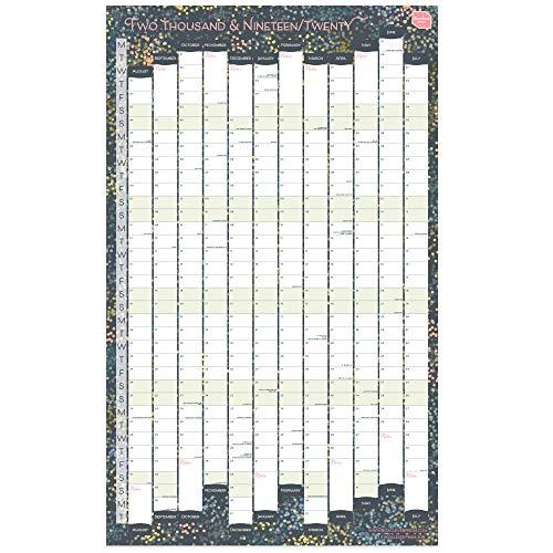 Calendario 2019 da muro di boxclever press. planner da parete, perfetto per qualsiasi casa, scuola o ufficio. planner 2019 2020 con formato ritratto. inizia da agosto 2019 - luglio 2020. laminato.