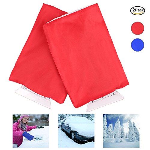 Eis-Schaber, ANGTUO Auto-Handschuh-Art-Schnee-Schaufel Winter-wasserdichte warme Schnee-Abbau-Schaufel-Handschuhe (2 PC, gelegentliche Farbe)