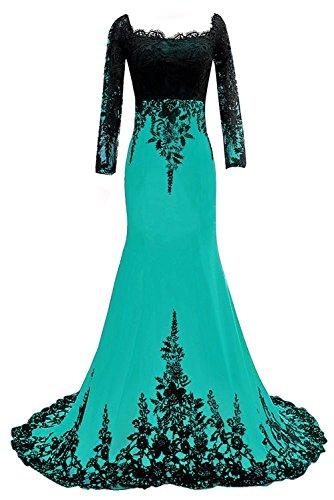 Carnivalprom Damen Abendkleider mit Ärmeln Lange Elegant Ballkleider Hochzeitskleid Appliques...