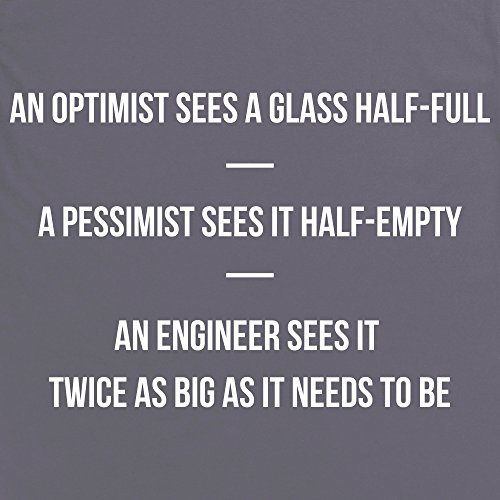 Optimist Pessimist Engineer T-shirt, Uomo Antracite