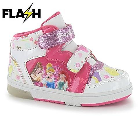 Character Light Up Hi Top Kinder Blink Schuhe LED Turnschuhe Leuchtend Sneaker Princess C9 (27)