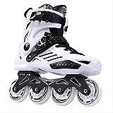 STBB Rollschuhe Inline Skates Professional Slalom Erwachsene Roller Skating Schuhe Schieben Free Skate Patins Größe 45 Weiß