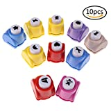 Papier Punch Shaper Stempel Mini Handgefertigt Locher Hand Press Formen für Festival Grußkarte Scrapbook Craft DIY, 10 Formen