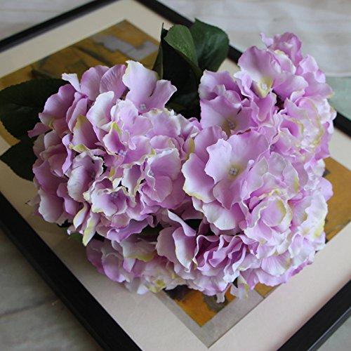 DYF Simulation de Haut Grade Fleur Plante Décoration Mariage,Violet Clair