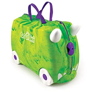 Trunki Ride-on Suitcase - Trunkisaurus Rex (Green) from Trunki