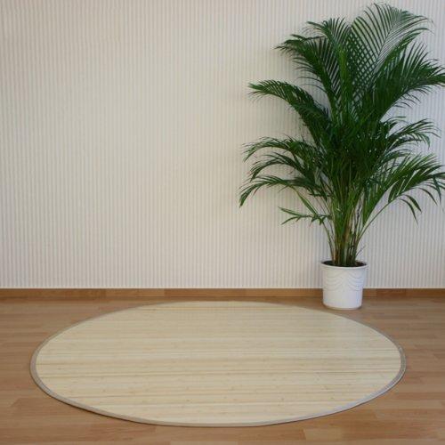 PEGANE Tapis Rond en Bambou Naturel 150 cm