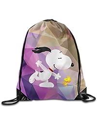 Diseño creativo Snoopy y Woodstock cordón mochila Bolsa de deporte para hombres ...