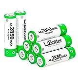 LiBatter (confezione da 8) AA Batteria Ricaricabile, AA 2850mAh 1.2V Ni-MH Ricaricabili batteria 8 pezzi con Scatola portaoggetti