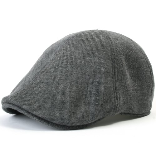 ililily Soft Cotton Newsboy Flat Cap Pre-Curved ivy Stretch-fit Driver Hunting Hut (flatcap-506-5) Cotton Flat Cap