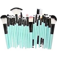 Beladla Brocha De Maquillaje Kabuki Lady Conjunto De Pinceles De Maquillaje 25 Eyebrow Eyeliner Blush Cosmetic