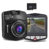 Mini Dash cam-car telecamere Dash fotocamera per cruscotto recorder-full HD 1080p con scheda SD da 16GB inclusa integrato G-Sensor loop recording, nero Nero