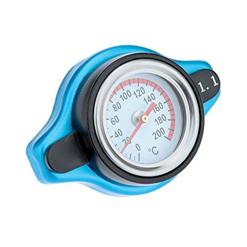 KKmoon Tapa Cubierta de Radiador Universal Termostática con Calibrador de Temperatura de Agua