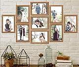 Cadre photo Beichen Lot de 9 Pièces en bois à accrocher au mur cadre déco mural 13x18 cm (9 Pièces)