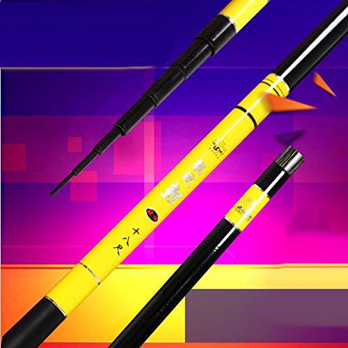 CAISHEN ® Mano de polo de carbono blanco de color amarillo opcional 3.6-6.3 m ultra ultra-luz pesca artes de pesca de vara , 3.6 m