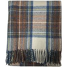 Couverture ou tapis en tartan écossais, Tweed 100% laine fa706fb9b20