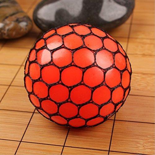 Preisvergleich Produktbild Hilai 1pcs Mesh Squishy Ball Squeeze-Traube zu entlasten Druck Kugel Pfund; UML; orange Pfund;