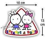 Sticker Enfants à bord - Autocollant bébé à bord