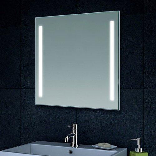 Badezimmerspiegel mit led beleuchtung  fackelmann - badezimmerspiegel - led umlaufend - 45 x 73 cm ...