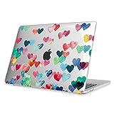 Fintie Hülle für MacBook Pro 13 (2018/2017 / 2016 Freisetzung) - Ultradünne Plastik Hartschale Schutzhülle für 13-Zoll MacBook Pro A1989/A1706/A1708 mit/ohne Touch Bar and Touch ID, Herzregen(Klar)