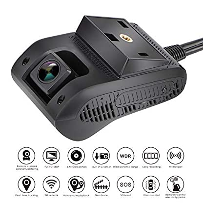 MiCODUS-Smart-Auto-Dash-Cam-Dual-Dash-Cam-3G-GPS-Tracking-Kamera-Treiber-Verhaltensanalyse-Full-HD-1080P-Frontkamera-140–Weitwinkel-DVR-G-Sensor-WDR-Live-Video-mit-GPS-Tracker-fr-Fahrzeuge