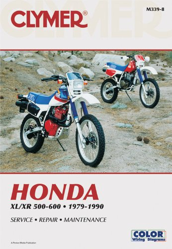 Honda Xl/Xr 500-600 1979-1990 (Clymer Motorcycle Repair) por Clymer Publications