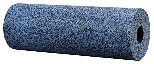BODYMATE Faszienrolle Härtegrad Extra-Hart mit Gratis E-Book - Grau-Blau/Schwarz 45x15cm - Durchmesser 15cm
