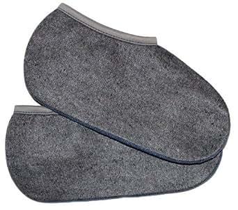2 Paar Stiefelsocken - Deutsche Ware ! sogenannte Roßhaarsocken für Damen Herren und Kinder Größe 37-38 Farbe grau