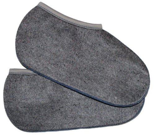 2 Paar Stiefelsocken sogenannte Rosshaarsocken Grau Made in Germany, Farbe:Grau;Größe:43-44