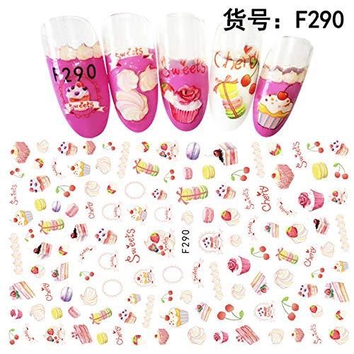 Obst- / Erdbeer- / Zitronen-Abziehbilder Nail Art Sticker Nail Art Design Selbstklebender Nagel 4St