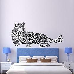 Walplus - Pegatina decorativa para pared, diseño de leopardo