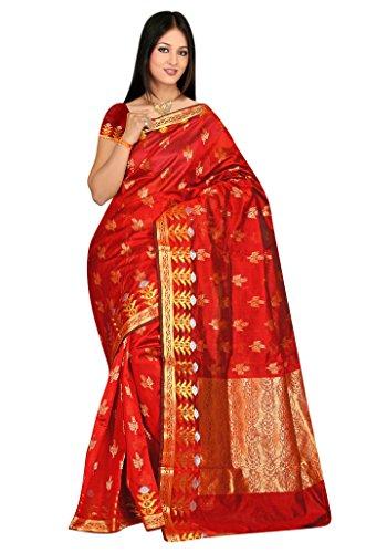 Sehgall Sarees Women's Silk Saree (Maroon)