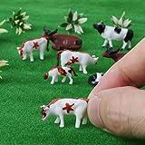 Senoow 10 Stücke 1:87 DIY Ho Skala Bunte Kuh Modell Zug Layout Modellbau Spielzeug Microlandschaft Blumentopf Decor