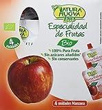 Natura Nuova Puré Fruta de Manzana - 8 paquetes de 400 gramos