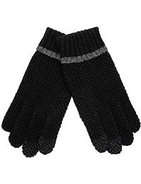 ELMA Touchscreen Herrenhandschuhe aus Wollstrick