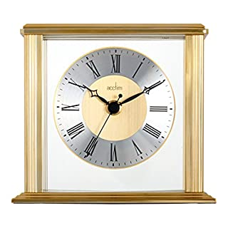 Acctim 36248 Hamilton Mantel Clock, Brass Effect