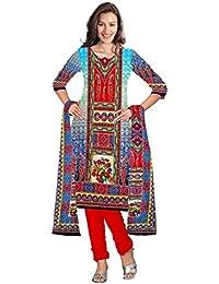 BalajiWomen's Crepe Unstitched dress material(211-multicolor-free size)
