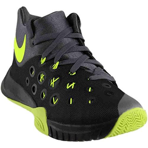 Nike Zoom Hyperquickness 2015, Chaussures Sport, Hommes Multicolore (negro / Green / Gris (noir / Gris Volt-gris Foncé))