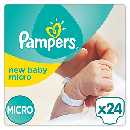 Pampers Windeln New Baby Gr.0 Micro 1-2,5 kg, 6er Pack (6 x 24 Stück)