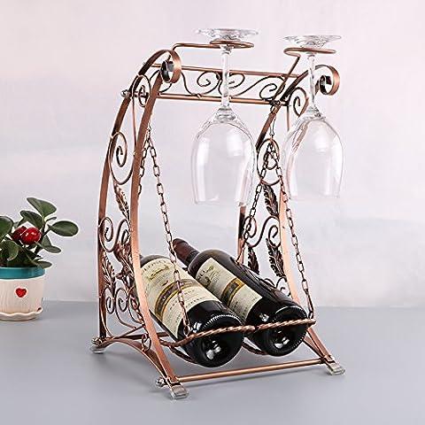 Yifom Creative fashion wine glass hanging Cantinette vino ripiani rack