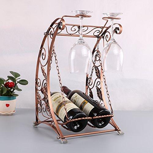 Creative fashion wine glass hanging Cantinette vino ripiani rack