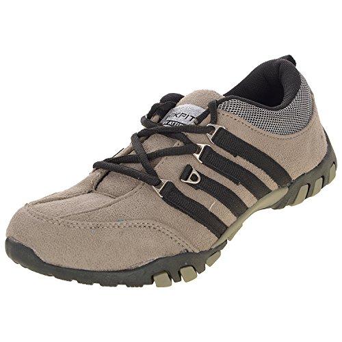 Cokpit Men's Beige & Black Canvas Running Shoes (7 Uk)