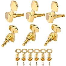 6Pcs Closed Machine Heads Zinc Alloy String Tuning Key Pegs for Folk/Electric Guitar