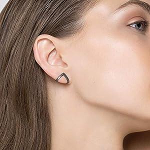 Geschwärzte Ohrstecker aus 925er Sterlingsilber, Dreiecksohrringe, minimalistische Ohrringe, hypoallergene Ohrringe…