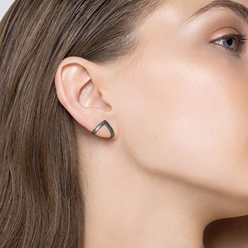 Zierliche Ohrringe, minimalistische Ohrstecker, Dreieck Ohrstecker, Ohrringe für Männer, Chevron Ohrringe, geometrische Ohrringe von Emmanuela