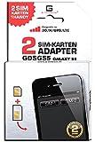 G-TELWARE GDSGS5/ 2 JAHRE Garantie!/ Mehrsprachig/Zifferncodefähig/Dual SIM DualSIM Adapter Karte Card Samsung Galaxy S5 UMTS/3G/HSDPA/GPS