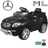 Mercedes-Benz ML Original 4x4 4MATIC 350 SUV Lizenz Kinderauto Kinderfahrzeug (Schwarz)