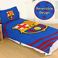 Official Barcelona FC 'Pulse' Single Duvet Cover and Pillowcase Set